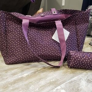Thirty-One Soft Utility Tote and Uptown Mini Pouch